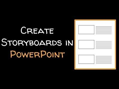 Create A Storyboard Template In PowerPoint YouTube