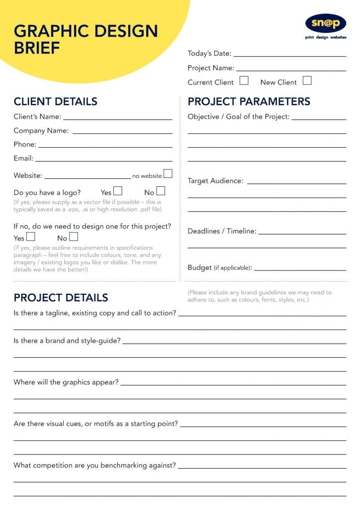 Customize And Download A Professional Logo Brief Template