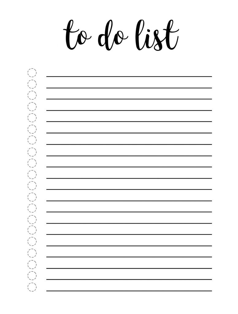Cute To Do List Template Word Excel One Platform For