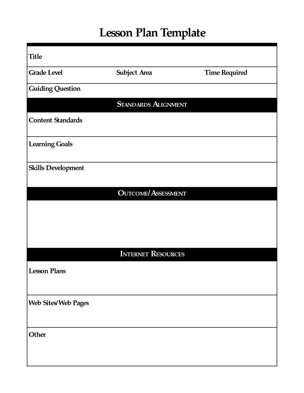 Daily Lesson Plan Template Fotolip