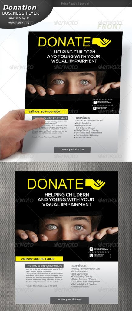 Donation Flyer By Designcrew GraphicRiver