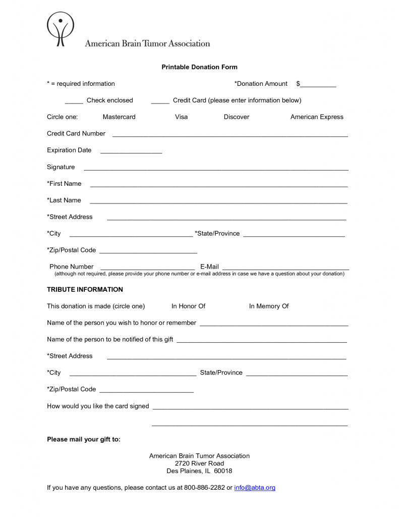 6 Free Donation Form Templates Excel PDF Formats