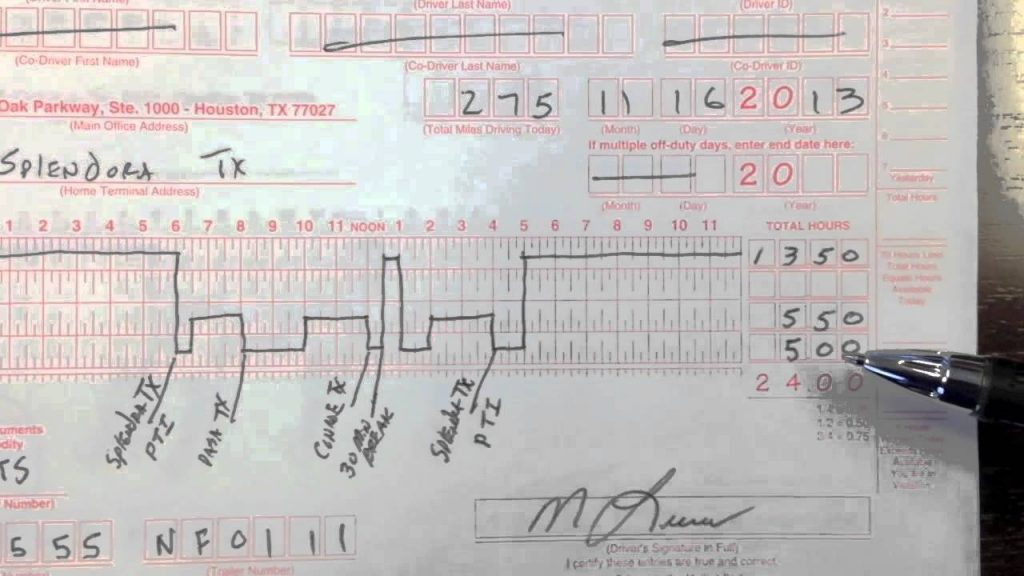Drivers Daily Log Book MLucas 011314 YouTube