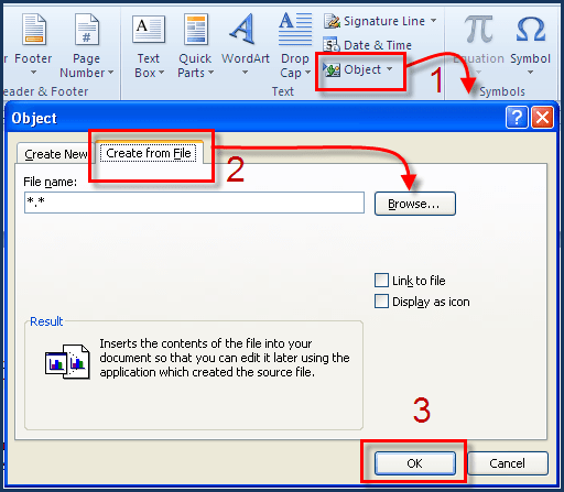 Embed Excel In Word Embed An Excel File Into A Microsoft