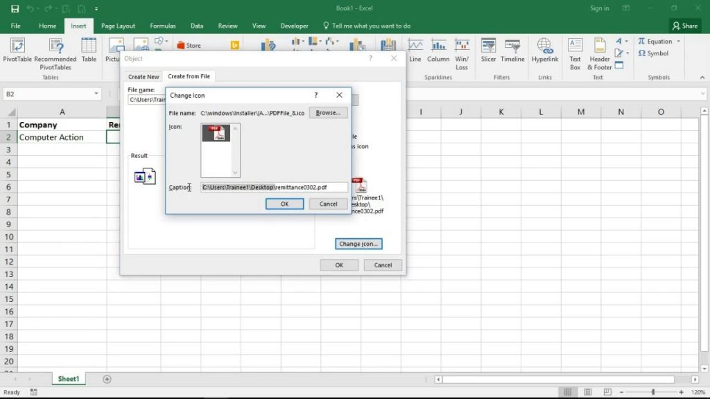 Embed PDF Into An Excel Spreadsheet YouTube