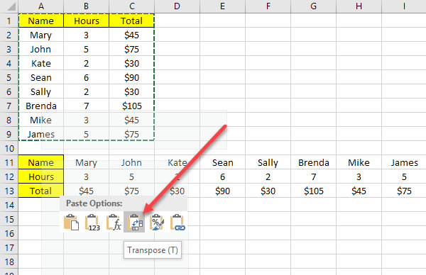 2 Ways To Use Excel s Transpose Function
