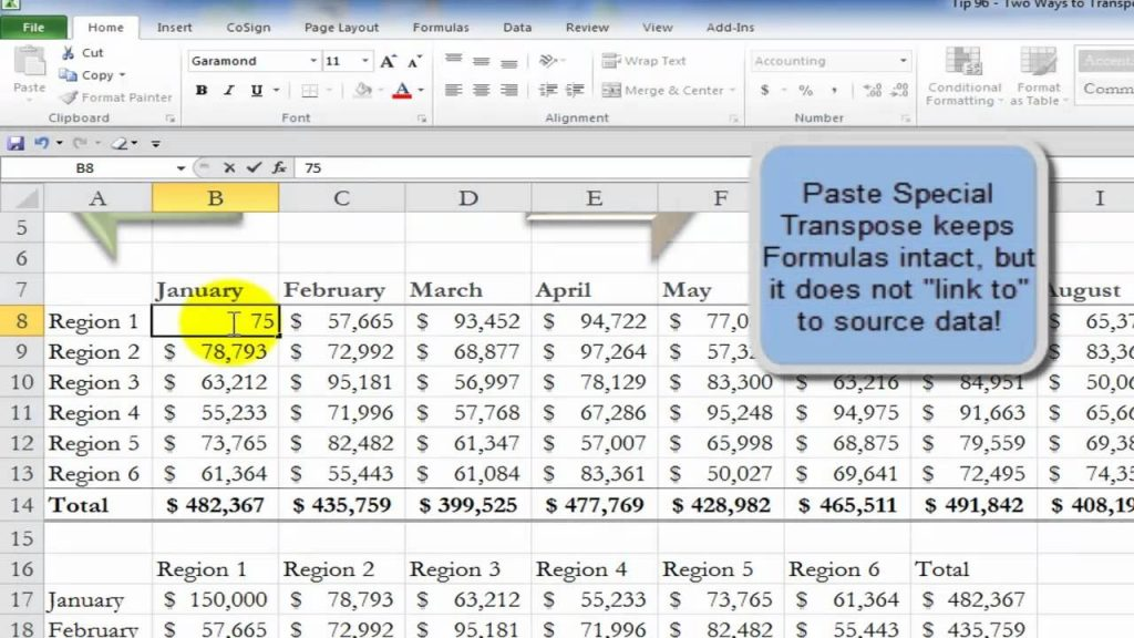 Two Ways To Transpose Excel Data YouTube