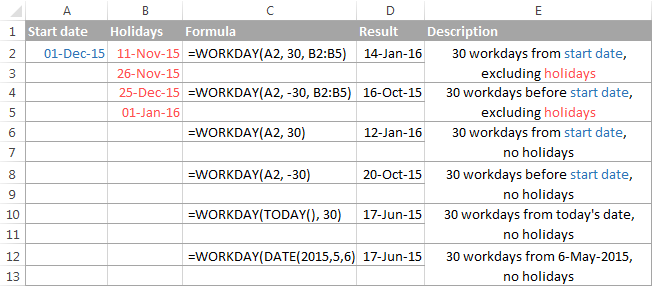 Excel WORKDAY And NETWORKDAYS Functions To Calculate