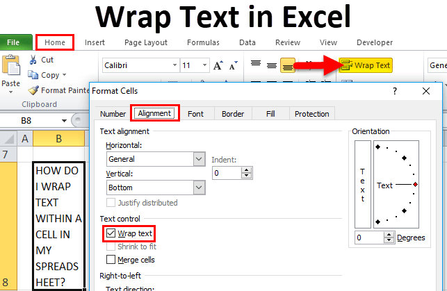 Wrap Text In Excel Using Wrap Text And Format Cells Option