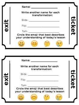 Exit Ticket Template By Ms Yu s Teachers Pay Teachers