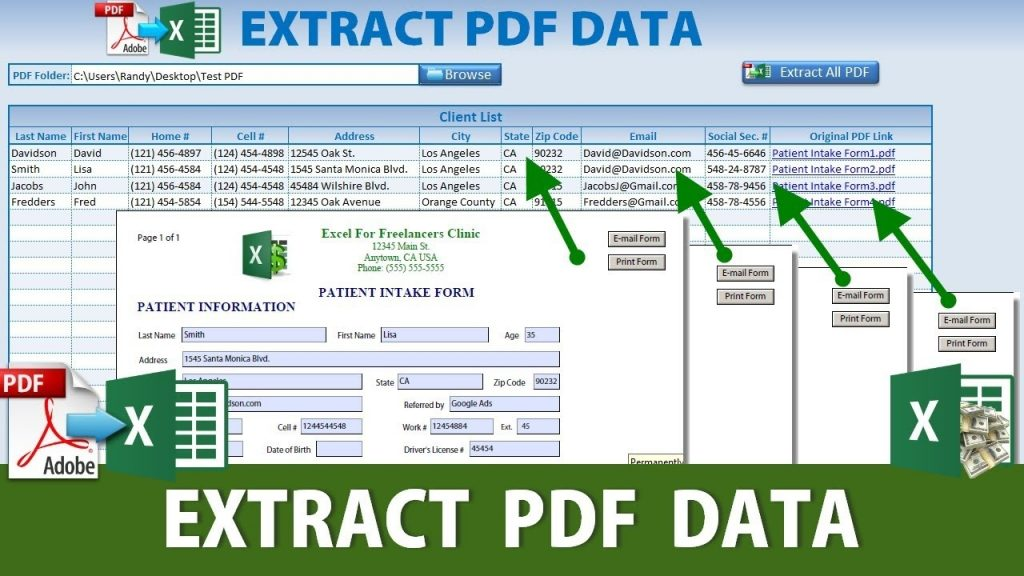 How To Extract Data From Unlimited PDF Forms To An Excel