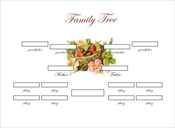 Family Tree Diagram Template 20 Free Word Excel PDF