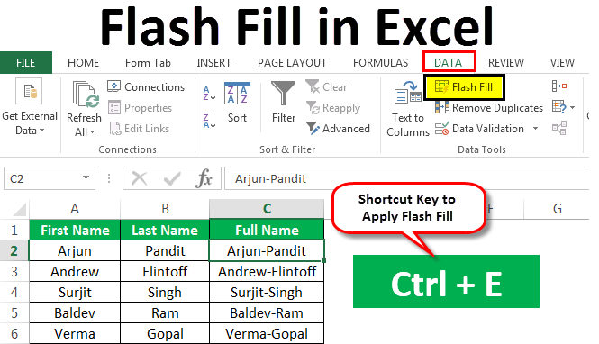 Flash Fill In Excel Flash Fill In Excel 2013 2016
