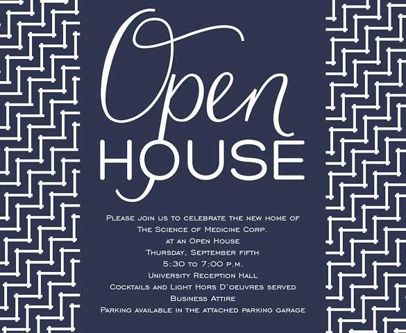 FREE 10 Best Open House Invitation Examples Templates
