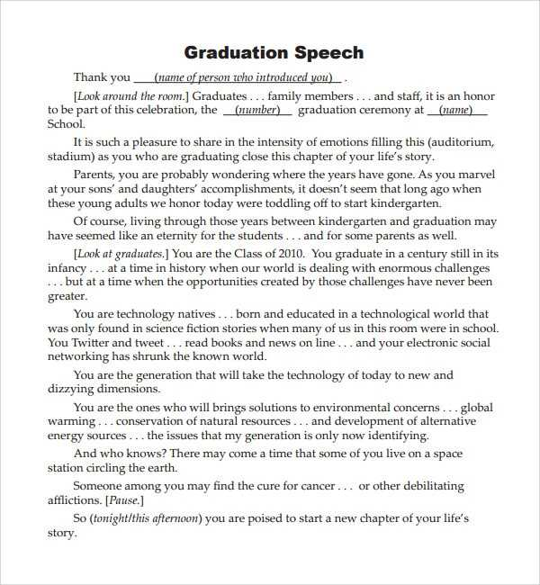 FREE 10 Sample Graduation Speech Example Templates In PDF