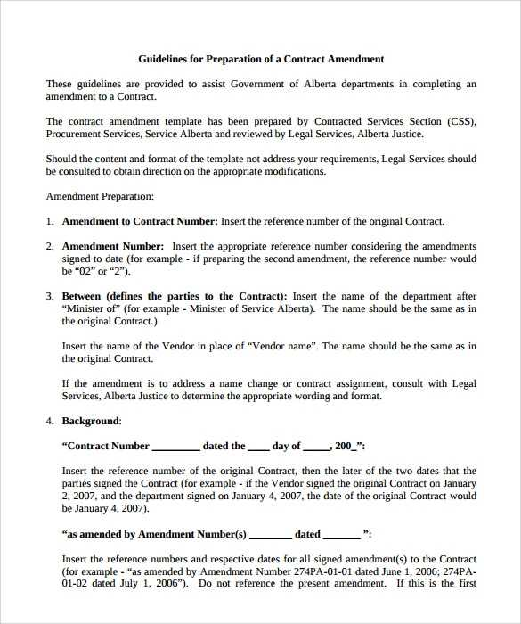FREE 11 Sample Contract Amendment Templates In PDF MS