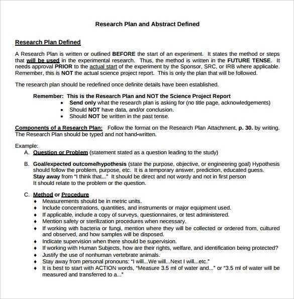 FREE 11 Sample Research Plan Templates In MS Word PDF