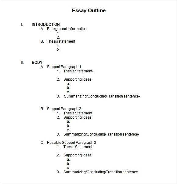 FREE 13 Sample Blank Outline Templates In PDF MS Word