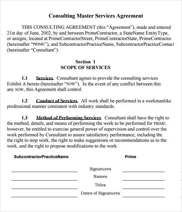 FREE 15 Sample Master Service Agreement Templates In PDF