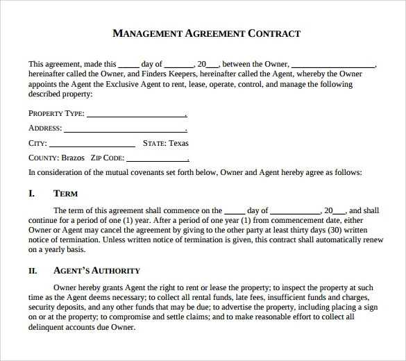 FREE 17 Sample Management Agreement Templates In PDF MS