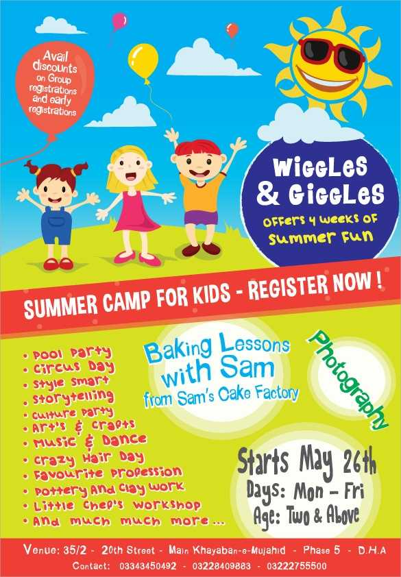 FREE 17 Summer Camp Flyer Templates In MS Word PSD AI