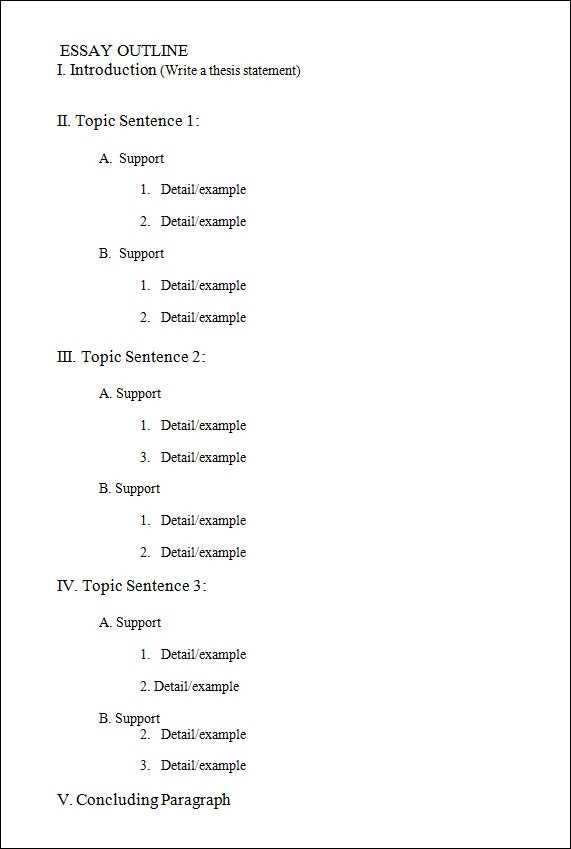 FREE 17 Useful Outline Templates In PDF MS Word Apple
