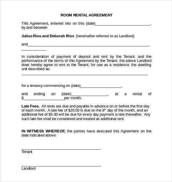 FREE 18 Room Rental Agreement Templates In PDF MS Word