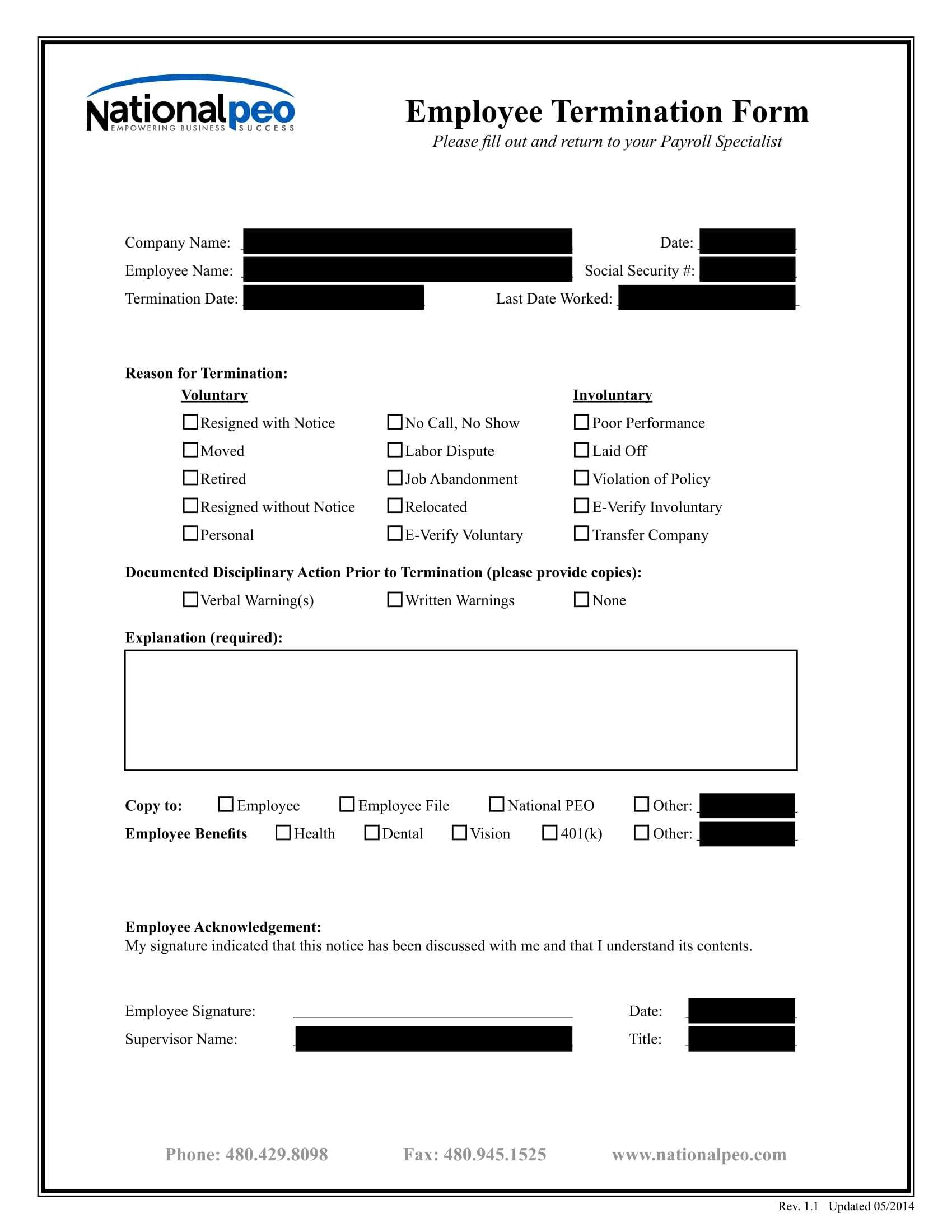 FREE 3 Employee Termination Forms In WORD PDF