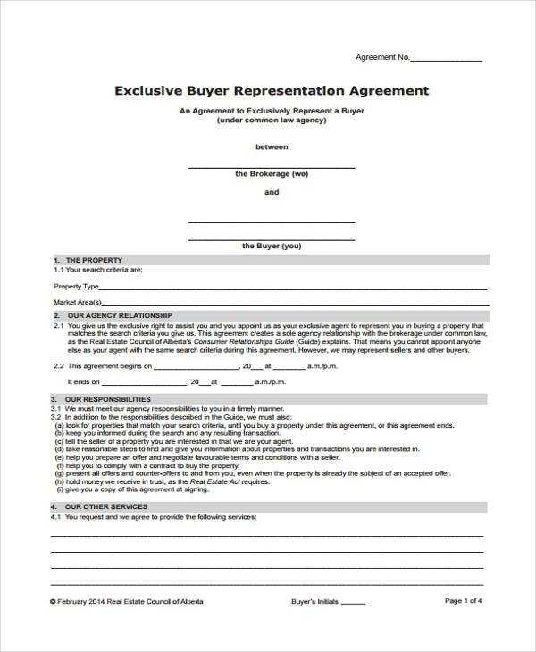 FREE 7 Exclusive Agency Agreement Forms In MS Word PDF