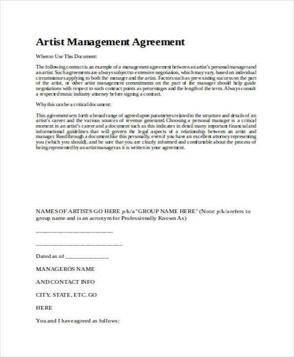 FREE 7 Sample Contract Management Agreement Templates In