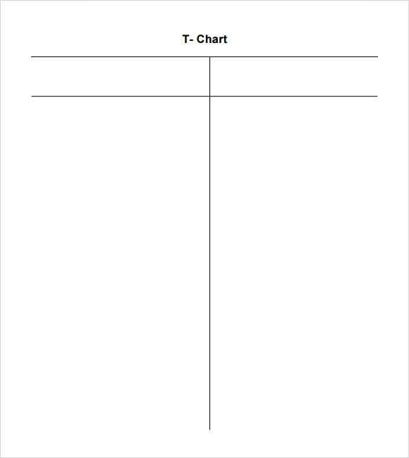 FREE 7 Sample T Chart Templates In PDF MS Word