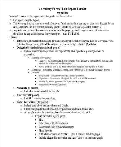 FREE 8 Sample Chemistry Lab Reports In MS Word PDF