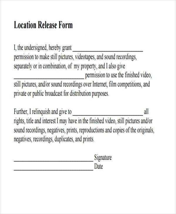 FREE 8 Sample Film Release Forms In PDF MS Word