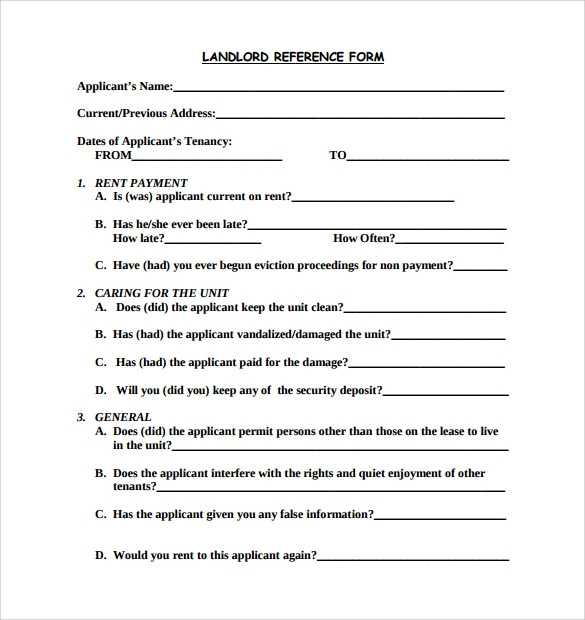 FREE 8 Sample Rental Reference Forms In PDF MS Word