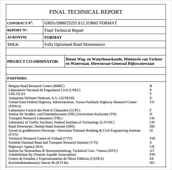 FREE 8 Technical Report Samples In MS Word Google Docs