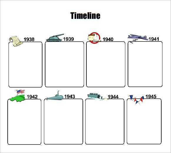 FREE 8 Timeline Templates For Kids In PDF