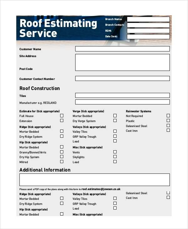 FREE 9 Sample Estimate Forms In PDF MS Word