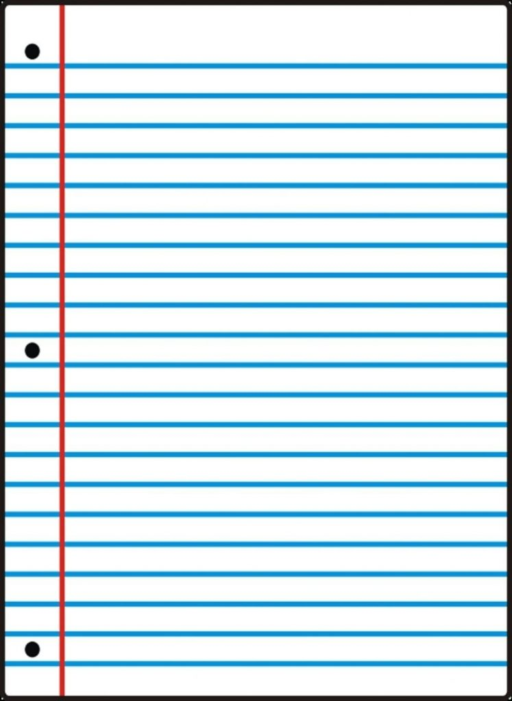 Free Printable Notebook Paper College Wide Ruled Inside