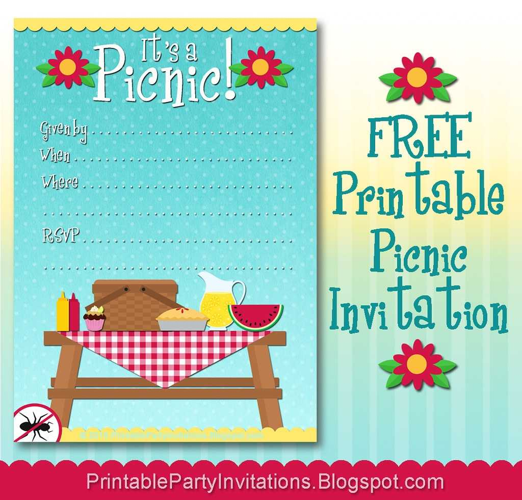 FREE Printable Picnic Invitation Click Here To Downloaod