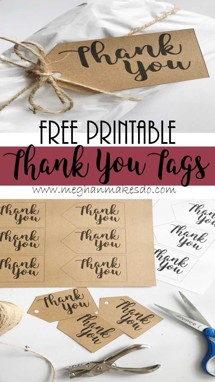 Free Printable Thank You Tags Meghan Makes Do