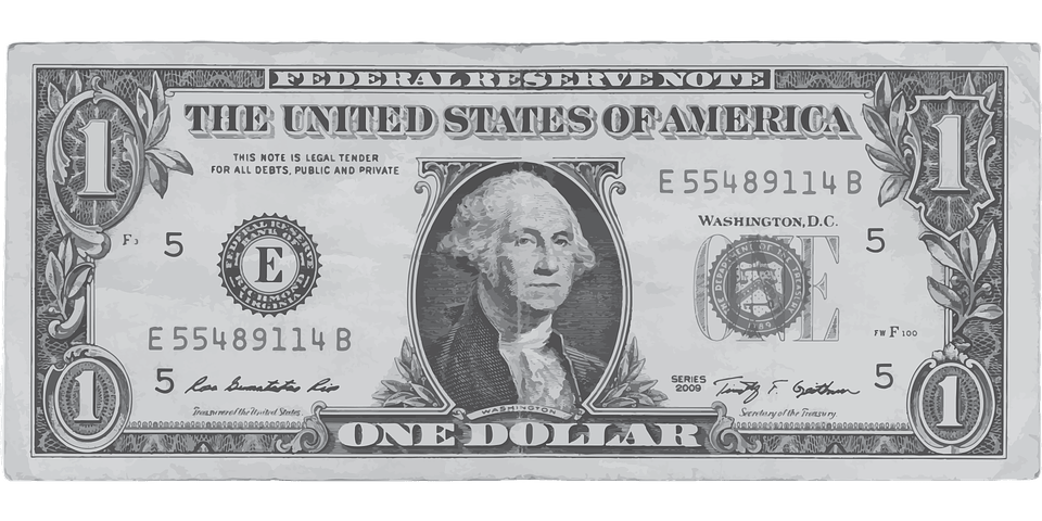 Free Vector Graphic Dollar One Money Front Us Bank
