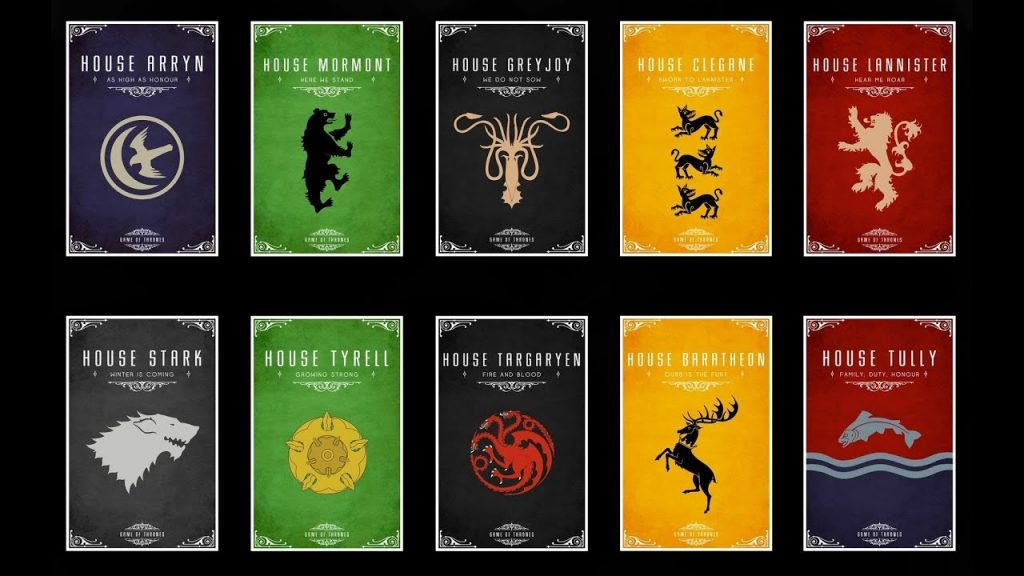 Game Of Thrones House Histories Tully Bolton Frey