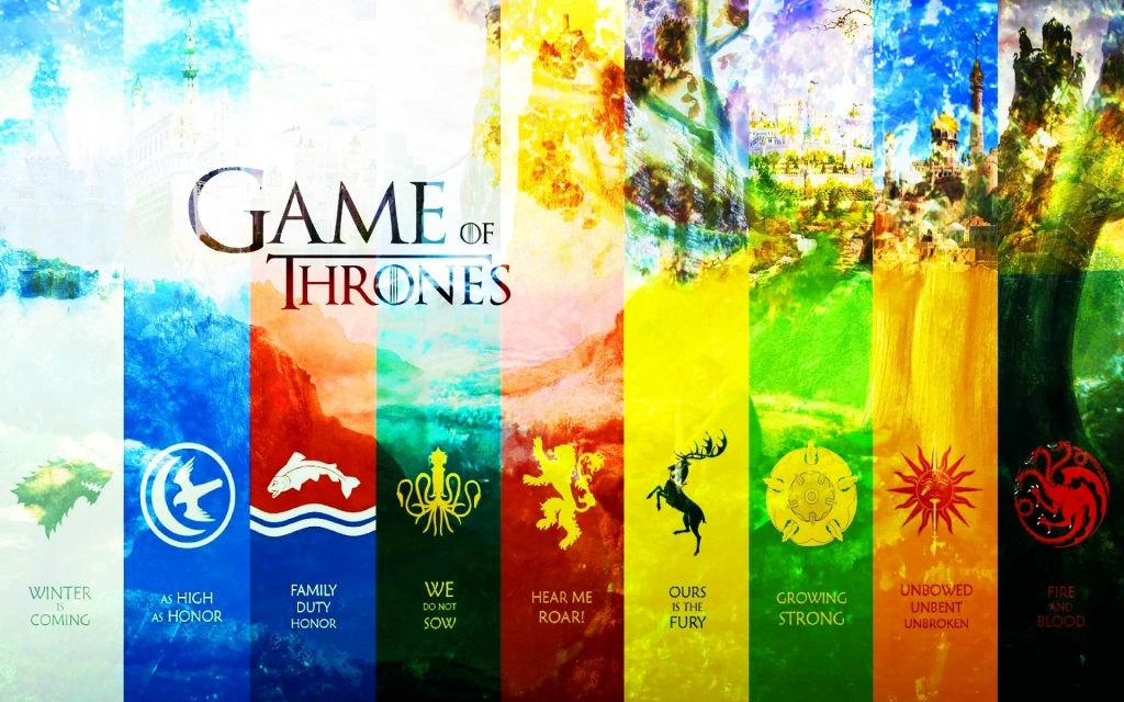 Game Of Thrones List Of Houses Game Of Thrones Houses