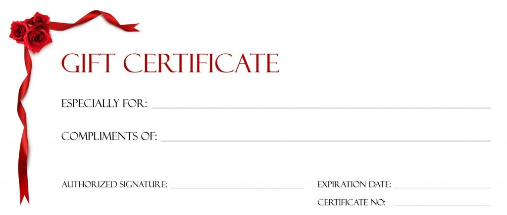 Gift Certificate Template For Google Docs