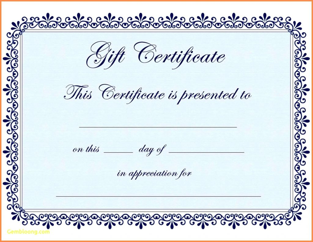 Gift Certificate Template Free Google Docs