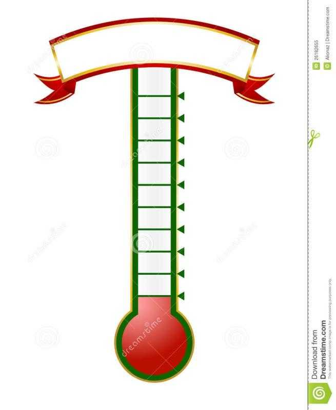 Goal Thermometer Template Template Business