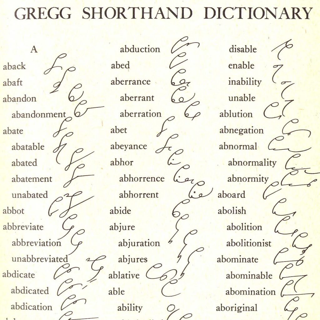 Gregg Shorthand Dictionary 1939 For Your Mixed Media Collage