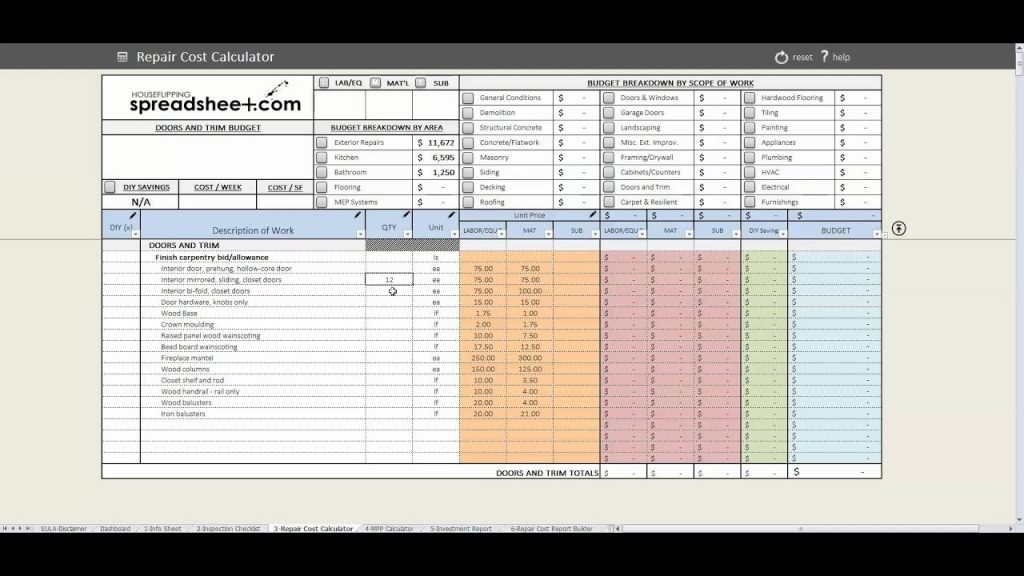 House Flipping Spreadsheet Speed Round YouTube