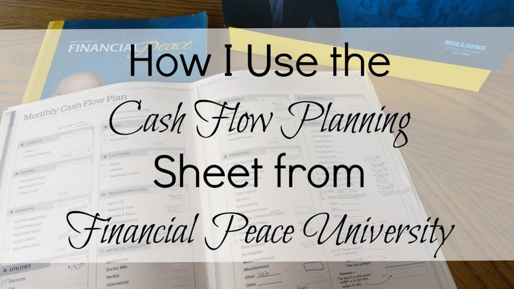 How I Use The Monthly Cash Flow Planning Sheet From