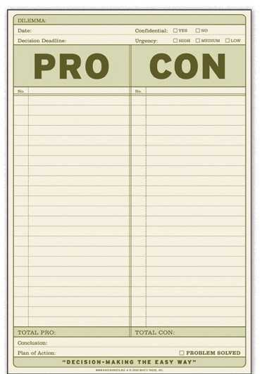 How To A Pro And Con List List Producer